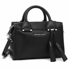 Michael Kors Geneva Small Black Leather Satchel Handbag 30f6stxs1l-001 MSRP $298