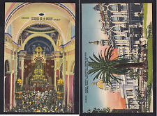Vintage Postcard Lot CUBA-HABANA La Merced Church Interior, Central Park Capital