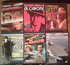 6 DVD LOT: Al Scarface Capone, OG Fast & The Furious Dennis Hopper Steve McQueen