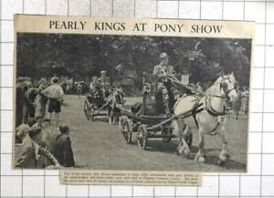 1951 Richly Embroidered Pearly Kings Clapham Common Pony Show