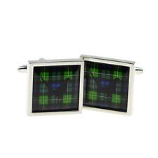 Mac Kenzie escocés Tartan con faisán diseño festoneado Gemelos bocsb 063 X 2