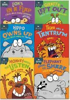 Sue Graves Behaviour Matters Series 6 Books Collection Set Elephant, Lion, Tiger