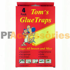 Pack of 4 Disposable Glue Traps Board for Mice Rats Mouse Super Stick Tray NEW