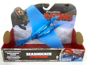 How To Train Your Dragon Seashocker Action Dragon Figure Excellent NRFB Rare