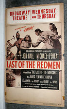 LAST OF THE REDMEN orig 1947 movie poster JON HALL/EVELYN ANKERS/BUSTER CRABBE