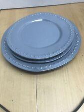 8 Plates Cabana by Hobby Lobby Gray Dot Design Acrylic Plates Melamine Plastic