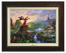 Thomas Kinkade -Disney's Fantasia – Canvas Classic (Espresso Frame)
