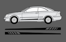 Mercedes-Benz CLK - Class W209 Side stripe Decal Graphic Edition Style Set