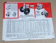1960's Rice Pump Portable Self-Priming Centrifugal Pumps 3 pg Catalog FREE S/H