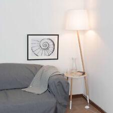 Tres Patas Lámpara de Pie Escandinavo Diseño Madera Blanco 152cm Salón