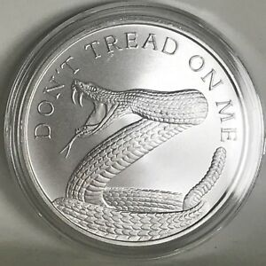 2016 Don't Tread On Me 1 oz .999 Silver Shield 2nd Amendment Snake Gun AR15