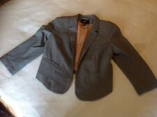 Gris clair veste eur 38 uk 10 h&m vgc tendance smart office wear bargain
