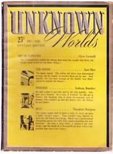 Pulp UNKNOWN WORLDS December 1941 - Eric Frank Russell, Edd Cartier