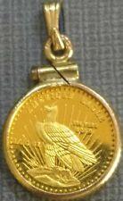 Gold American Eagle 1/20 oz in coin holder bezel