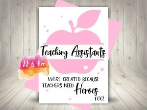 Personalised Teaching Assistant Thank You Card: School Leaving Gift