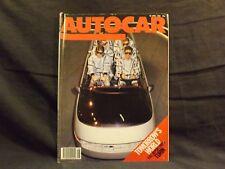 AUTOCAR MAGAZINE 30 APRIL 1986. HONDA CIVIC CRX 1.6-16. LANCIA THEMA 2.0ie.