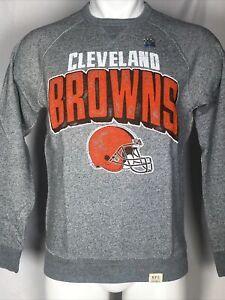 Cleveland Browns Junk Food Formation Fleece Grey Sweatshirt Men's SMALL
