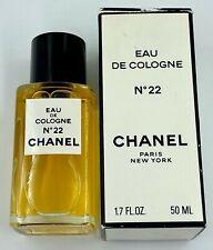 Chanel NO 22 EAU DE COLOGNE 50 ml 1.7 FL OZ VINTAGE