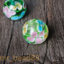 12/14mm Plum Inside Flower Glass Beads DIY Loose Spacer Beads Jewelry Findings