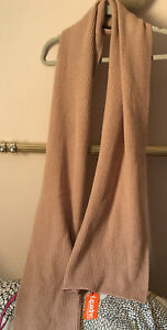 NWT Superdry Pinkish Pale Brown Cotton Blend Very Long Scarf