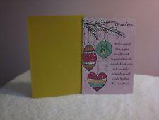 For Arts Sake - Christmas Card for Grandma - Three Christmas ornament on branch
