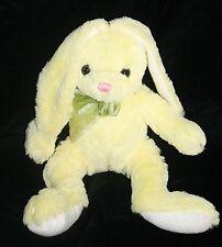 "Hobby Lobby EASTER BUNNY RABBIT 13""  Yellow White Plush Stuffed Animal Soft Toy"