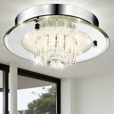 Luxus LED Kristall Decken Leuchte Glas Lampe rund Wohn Zimmer Beleuchtung Chrom