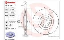 1x BREMBO Disco de freno delantero Ventilado 340mm Para SKODA 09.C306.11