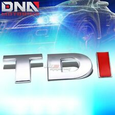 FOR VW TDI GOLF/JETTA STICK ON 3D CHROME RED AUTO METAL EMBLEM TRIM BADGE LOGO