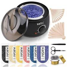 Home Waxing Kit, KESHI Wax Warmer Hair Removal Wax Kit with 6 Bags Hard Wax DEAL