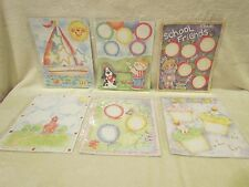 30 Lot of 8-1/2 x 11 Scrapbooking Pre-Printed Pages in Page Protectors-New