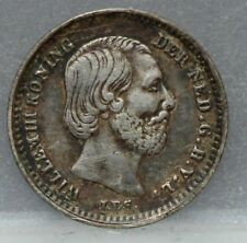 Nederland - The Netherlands stuiver 1863 - 5 cent 1863 Willem 3 Silver KM# 91