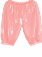 Latex Catsuit Rubber Gummi Loose Short Pants Sweet Casual Trousers Customiz .4mm
