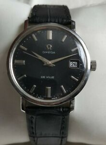 Vintage Omega Seamaster DeVille Date Hand Winding Stainless Steel Men's Watch