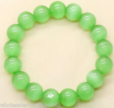 "Natural 8 mm Cat's Eye stone Crystal Bead Bracelet Jewelry 7.5""Aaa+"