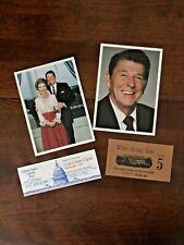 Reagan Bundle, 4 Items: White House Tour Ticket Capital Tour Ticket, Postcards