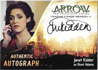 Arrow Season 4 Auto Autograph Card Janet Kidder JK Cryptozoic