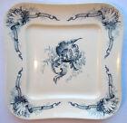 RARE, Assiette Art Nouveau Choisy le Roi, décor Louis XV: Oiseaux & Coquilles