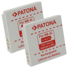 2x Batteria Patona 600mAh 3,7V per Canon PowerShot TX1