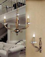 Lampadario classico 3 luci in ottone brunito coll. Dese 7211/3