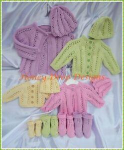 10 PAPER KNITTING PATTERNS GIRLS BUNDLE B (10 DESIGNS) BABY REBORN