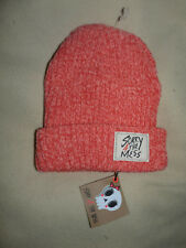 Bonnet chapeau tricot rose corail SORRY 4 THE MESS fille 8-14 ans 55 cm - neuf