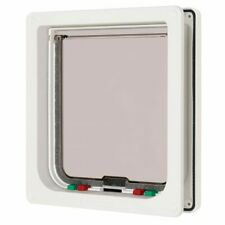 Dog Mate Large 4 way Cat Flap, White 221WD - NQP
