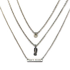 Doctor Who Dont Blink Weeping Angel Three-Tier Necklace