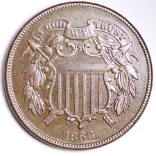1866 Two Cent Piece CHOICE AU+/UNC FREE SHIPPING E190 WFT