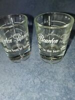 LOT OF 2 VINTAGE BOURBON SUPREME AMERICAN DISTILLERY CO WHISKY LIQUOR SHOT GLASS