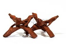 "Carved Tripod Wood Stand Holder 4""  ( 2 pcs )"