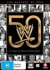 WWE: The History of WWE: 50 Years of Sports Entertainment NEW R4 DVD