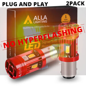 LED Front Yellow Plug&Play 1157 CANBUS Turn Signal Lamp,🚫Resistor/Flasher Relay