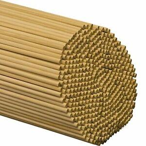Wooden Dowel Rods Wood Sticks 1/4 x 12 Inch Unfinished Hardwood Art Craft 25 Pcs